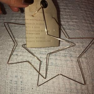 Anthropologie Huge Stars Wire Earrings +Bonus